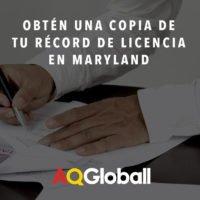 obten una copia de tu record de licencia en maryland