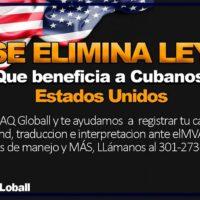 REVOCADA LEY DE AJUSTE PARA CUBANOS