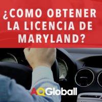 como obtener la licencia de maryland