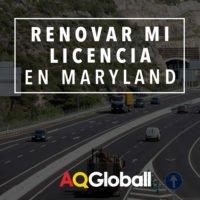 renovar mi licencia en maryland aqgloball